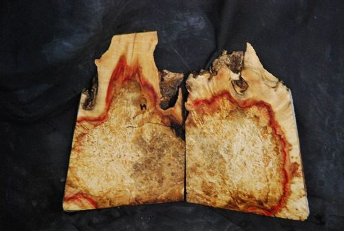 Burls Flame Box Elder Burl Set 18.5″