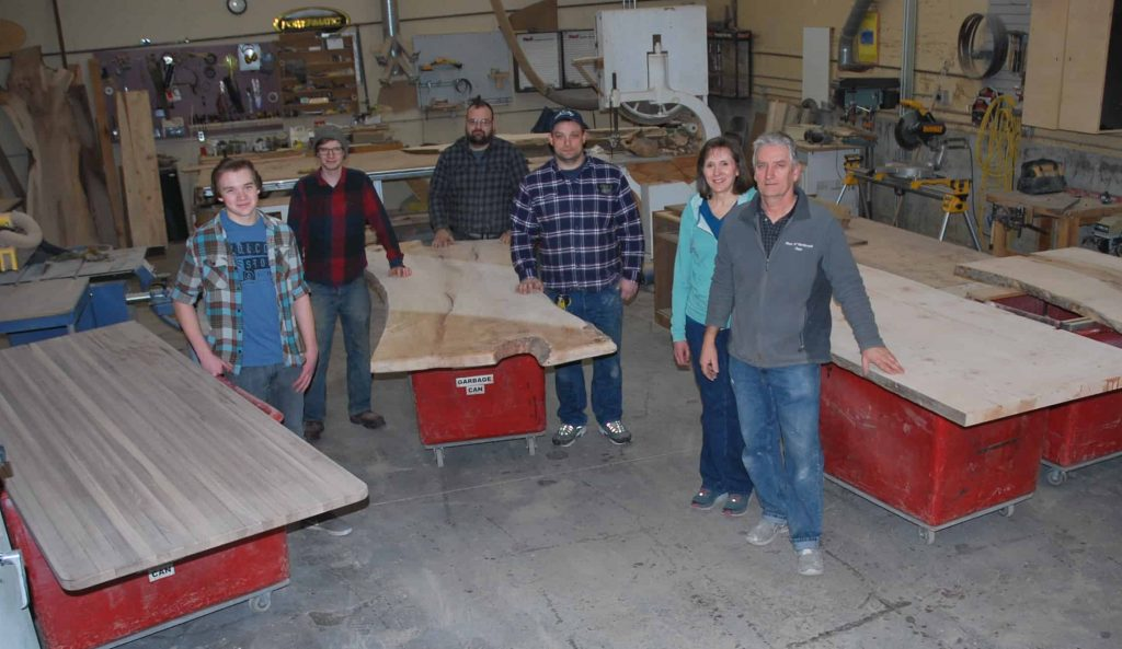 Woodworker Network Team at shop