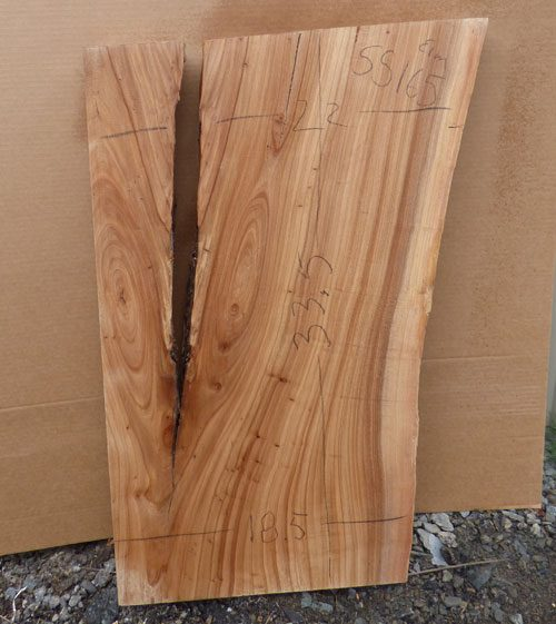 Elm Live Edge Wood Slab