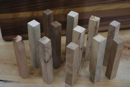 Turning Wood Pen Blanks, Set of 12