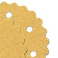 3-1/2″ Scalloped Edge Hook & Loop  Sanding Discs