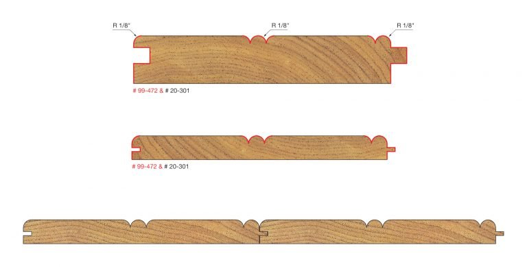 Architectural Millwork Base and Cap Bits 1/2″ Shank