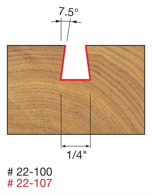 Joinery Dovetail Bits 1/2″ Shank