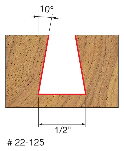 Joinery 1/2″ (Dia.) x 5/8″ H Dovetail Bit