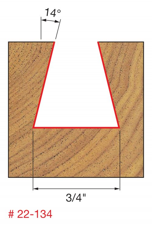 Joinery 3/4″ (Dia.) x 3/4″ H Dovetail Bit