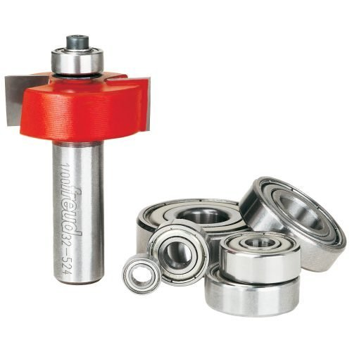 flush, 1/8″,1/4″,5/16″,3/8″,7/16″,1/2″ Depth Rabbeting Bit with Bearings (1/2″ Shank)