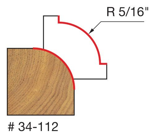 Edge Treatment 5/16″ Radius Rounding Over Bit (Quadra-Cut)
