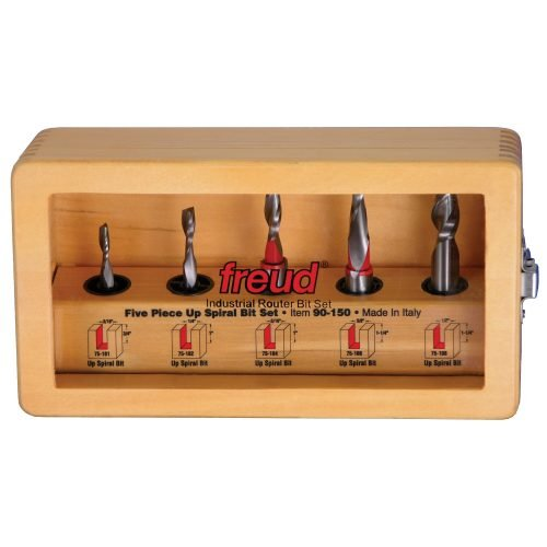 Router Bit Sets Up Spiral Bit Set, 5 Piece
