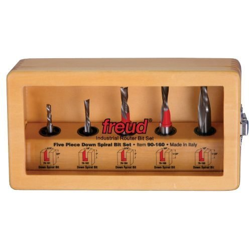 Router Bit Sets Down Spiral Bit Set, 5 Piece