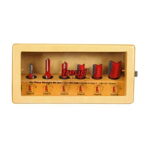 Router Bit Sets Straight Bit Set, 6 Piece