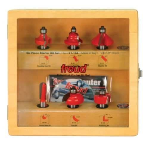 Freud 6 piece router bit set 91-104