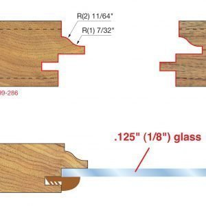 Glass Panel Cabinet Door Bit Set