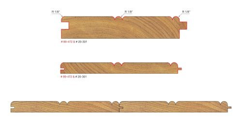 Architectural Millwork Beadboard Tongue & Groove Bit 1-7/8″ (Dia.)