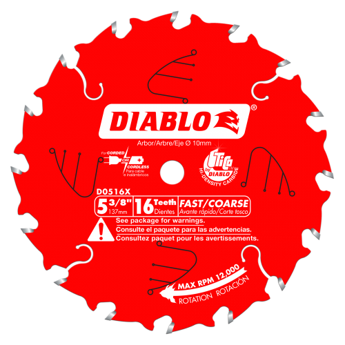 5-3/8 in.  x 16 Tooth Framing Trim Saw Blade