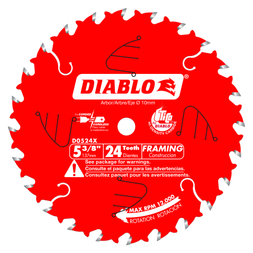 Diablo® Blades 5-3/8 in.  x 24 Tooth Framing Trim Saw Blade