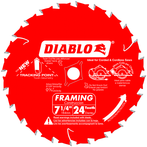 7-1/4 in.  x 24 Tooth Framing Saw Blade