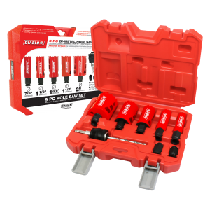 Hole Saw Cutters 9 pc General Purpose Bi-Metal Hole Saw Set