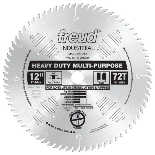 Freud® Woodworking Blades 12″ Heavy Duty Multi-Purpose Blade