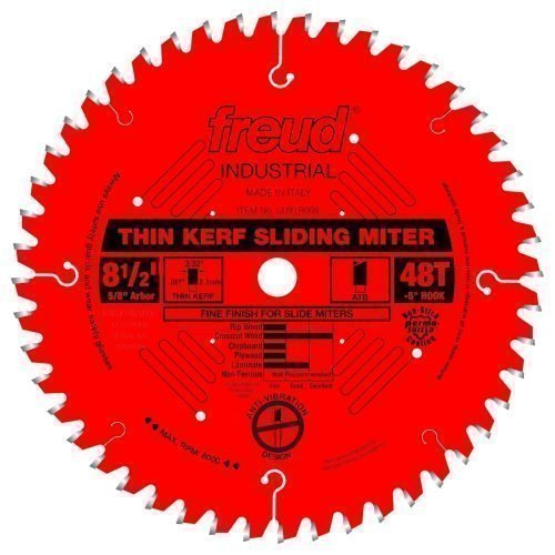 Freud® Woodworking Blades 8-1/2″Thin Kerf Sliding Compound Miter Saw Blade