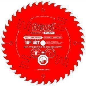 10″ Thin Kerf Next Generation Premier Fusion General Purpose Blade