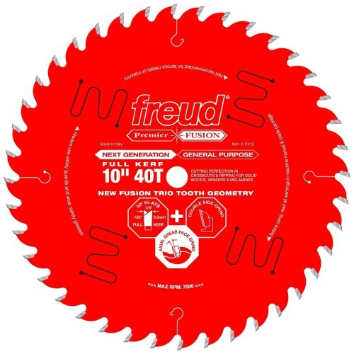 Freud® Woodworking Blades 10″ Next Generation Premier Fusion General Purpose Blade