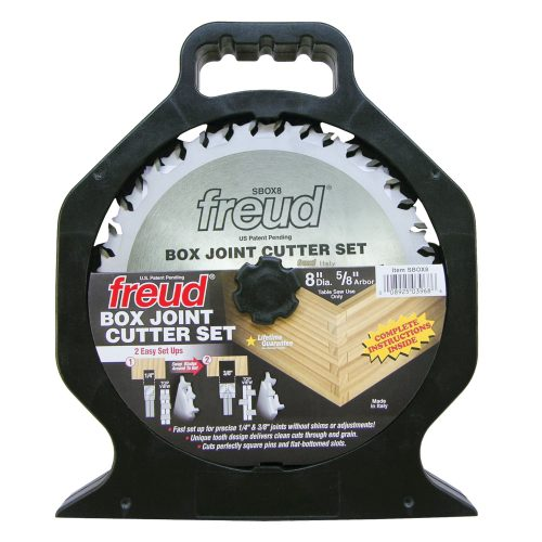 Freud® Woodworking Blades 8″ Box Joint Cutter Set
