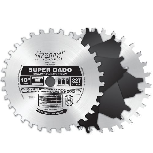 Freud® Woodworking Blades 10″ Super Dado Sets