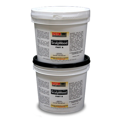 Sculpwood moldable clay epoxy system three
