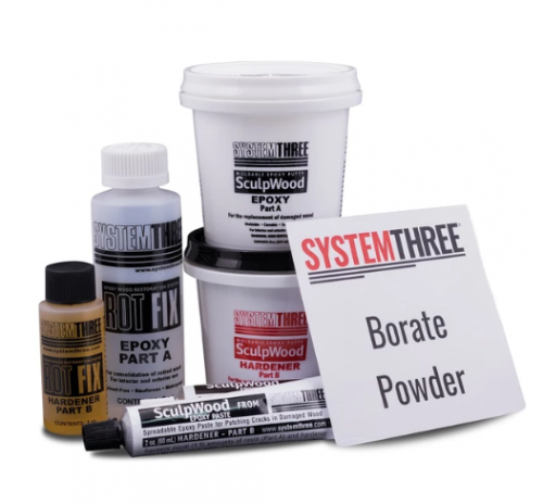 System Three EndRot Kit for Wood Restoration