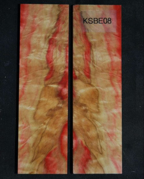 Knife Scales- Flame Boxelder, Bookmatched