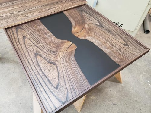 River table with RiverCast Epoxy