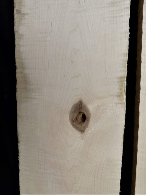 curly maple lumber boards
