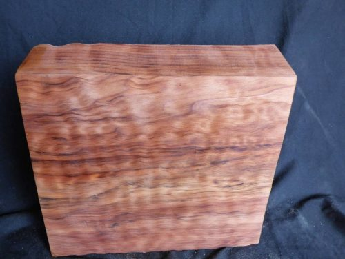 Curly Redwood square block