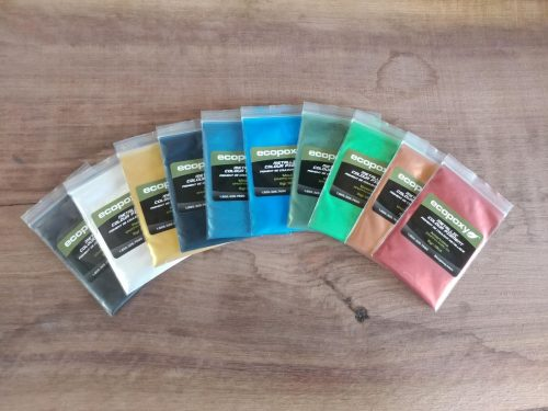 EcoPoxy Metallic Color Pigment 5g Sample Packets