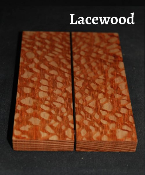 lacewood wood knife scale bookmatched