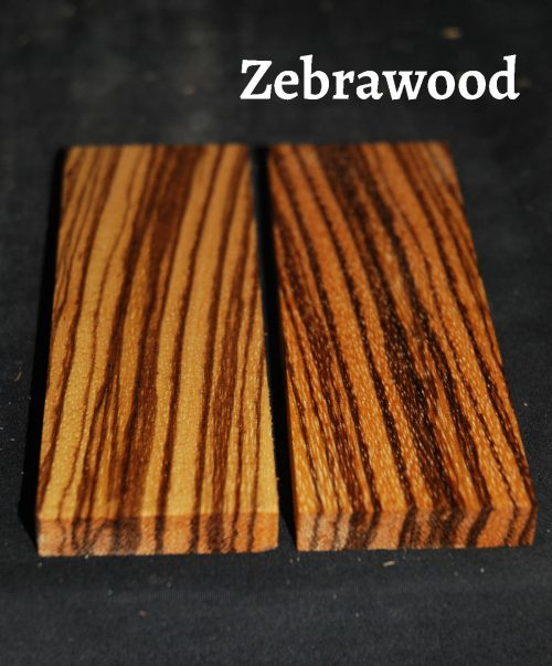 zebrawood wood knife scale bookmatched