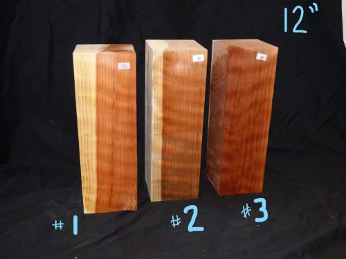 Curly Redwood Pepper Mill Blanks