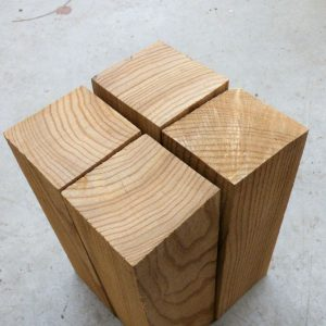 Elm Turning Blocks, Set of 4